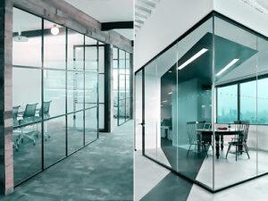 Преимущества использования стеклянных перегородок